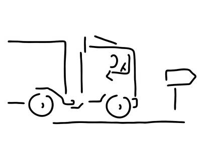 Truck Drawing - Occupational Motorist Truck Driver by Lineamentum