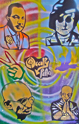 Free Speech Painting - Occupy 4 Peace by Tony B Conscious