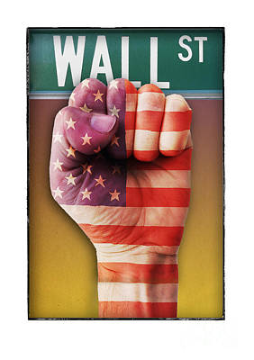 Occupy Wall Street Art Print by Chris Van Es