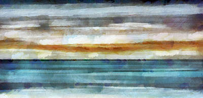 Abstract Seascape Mixed Media - Ocean 1 by Angelina Vick