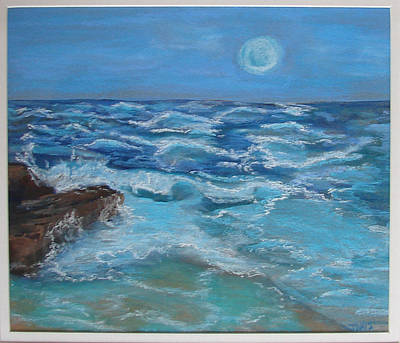 Art Print featuring the drawing Ocean 1 by Joseph Hawkins