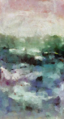 Abstract Seascape Mixed Media - Ocean 2 Vertical by Angelina Vick