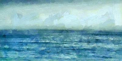 Beach Mixed Media - Ocean 3 by Angelina Tamez