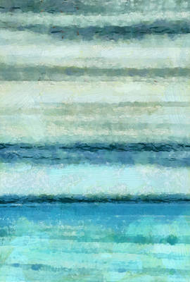 Abstract Seascape Mixed Media - Ocean 4 by Angelina Vick