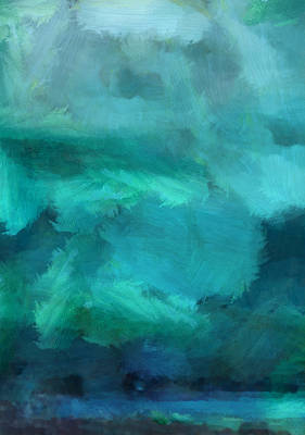Abstract Seascape Mixed Media - Ocean 5 by Angelina Vick