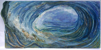 Hawaii Sea Turtle Mixed Media - Ocean Action by Caylin Spear