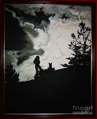 Ocean And I Art Print by Stuart Engel