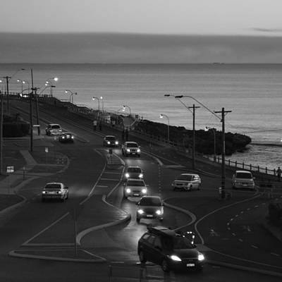 Photograph - Ocean And Road by Cheryl Miller