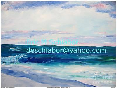 Ocean Assateague Virginia Art Print by Eric  Schiabor