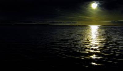 Photograph - Ocean At Night by Henrik Petersen