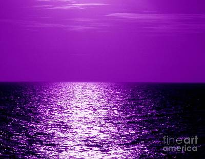 Photograph - Ocean At Night II by Anita Lewis