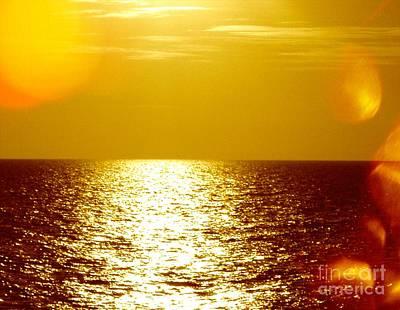 Photograph - Ocean At Night V by Anita Lewis