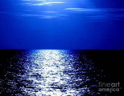 Photograph - Ocean At Night Vi by Anita Lewis