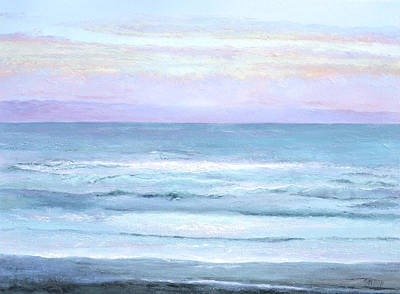Ocean At Sunset Art Print by Jan Matson