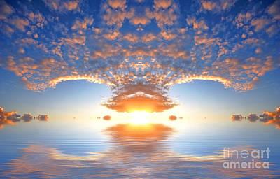 Ocean At Sunset Art Print by Michal Bednarek