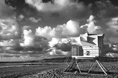 Ocean Beach Lifeguard Tower Art Print