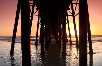 Zen-like Photograph - Oceanside Pier Tunnel by Sean Davey