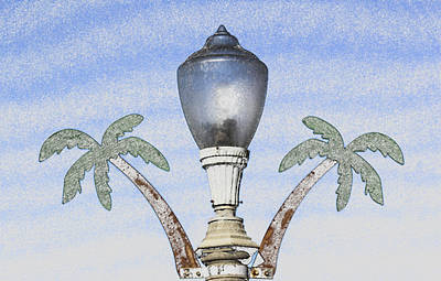 Digital Art - Ocean Beach Street Lamp by Photographic Art by Russel Ray Photos