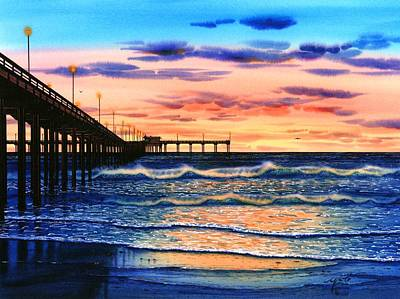 Ocean Beach Sunset Art Print