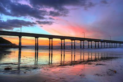 Ocean Beach Sunset Art Print by Nathan Rupert