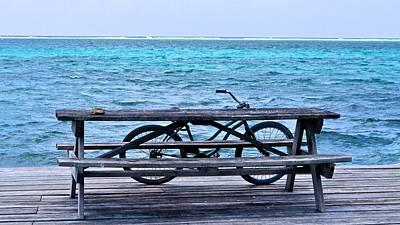 Ocean Bikes Art Print by Kristina Deane