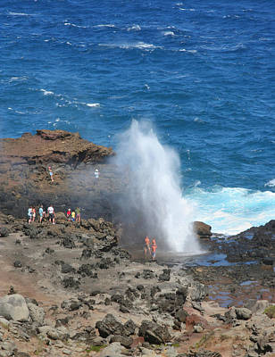Photograph - Ocean Blowhole In Maui by John Orsbun