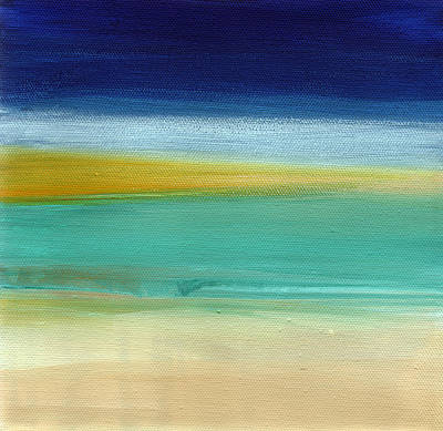 Abstract Beach Landscape Painting - Ocean Blue 3- Art By Linda Woods by Linda Woods