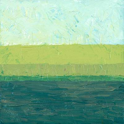 Oversized Painting - Ocean Blue And Green by Michelle Calkins