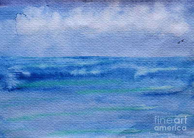 Painting - Gentle Ocean Waves -  Original Watercolor by Debbie Portwood