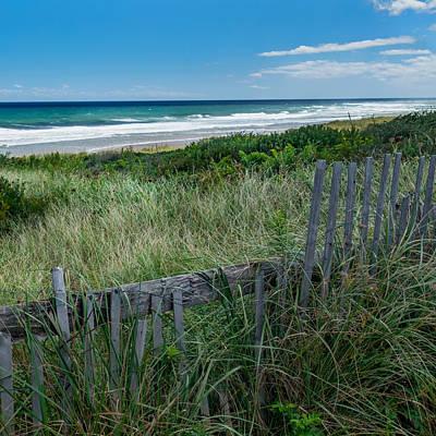 Atlantic Ocean Photograph - Ocean Blues Square by Bill Wakeley