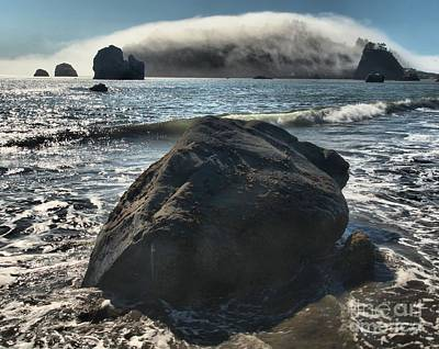Photograph - Ocean Boulder by Adam Jewell