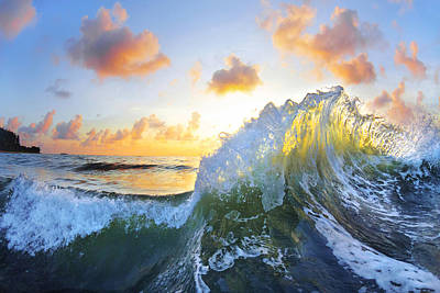 Seascape. Wave Photograph - Ocean Bouquet by Sean Davey