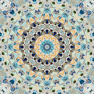 Digital Art - Ocean Breeze 02 - Mandala by Aimelle