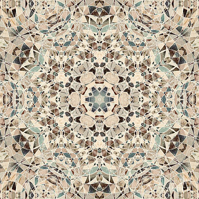 Digital Art - Ocean Breeze 51c02 - Mandala by Aimelle