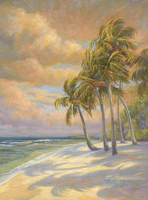 Palm Tree Painting - Ocean Breeze by Lucie Bilodeau