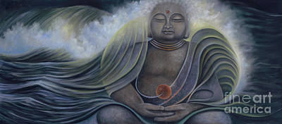Painting - Ocean Buddha by Birgit Seeger-Brooks