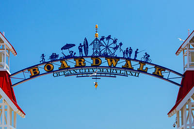 Ocean City Boardwalk Arch Art Print