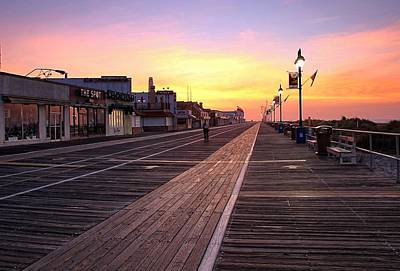 Ocean City Boardwalk Sunrise Art Print
