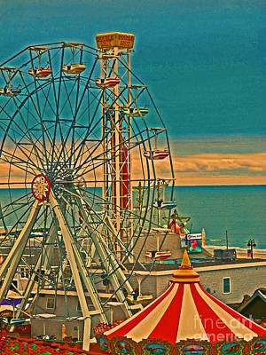 Ocean City Castaway Cove Ferris Wheel Art Print