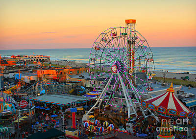 Ocean City Nj Boardwalk And Music Pier Art Print