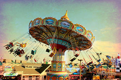 Ocean City Nj Carousel Swing Time Art Print
