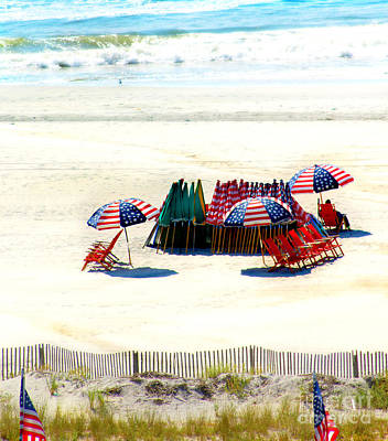 Ocean City Nj Stars And Stripes Art Print