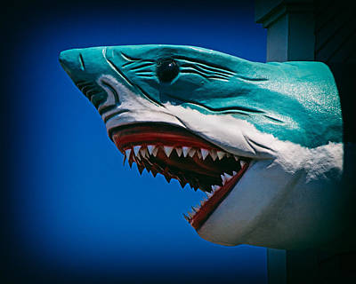 Ocean City Shark Attack Art Print