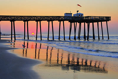 Art Print featuring the photograph Ocean City Sunrise by Dan Myers