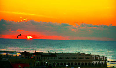 Ocean City Sunrise Over Music Pier Art Print