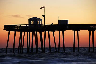 Art Print featuring the photograph Ocean City Sunset by Dan Myers