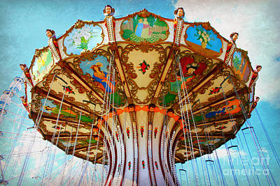 Ocean City Swing Carousel Art Print