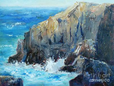 Painting - Ocean Cliffs by Carolyn Jarvis