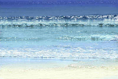 Hollywood Style - Ocean colors abstract by Elena Elisseeva