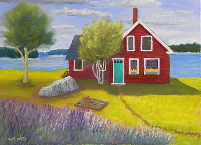 Ocean Cottage Art Print